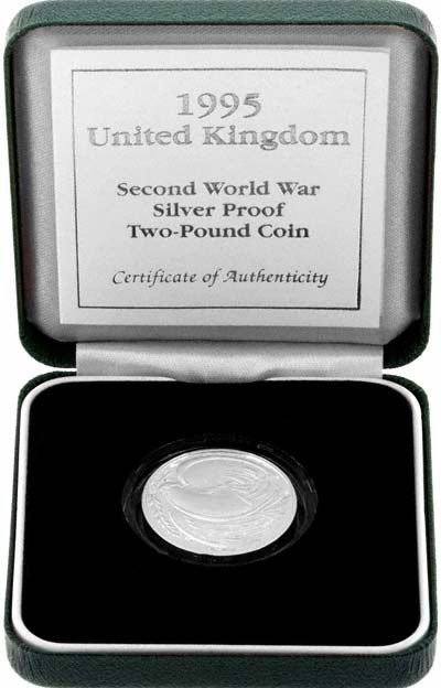 1995 Silver Proof Two Pound Coin in Presentation Box