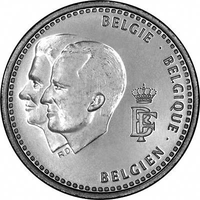 Obverse of 1996 Belgian 250 Francs
