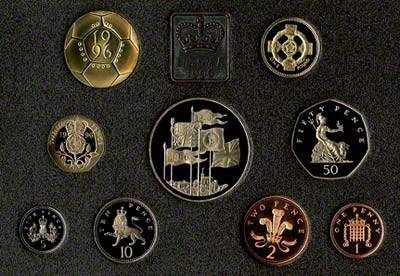 Reverse of the 1996 Proof Set