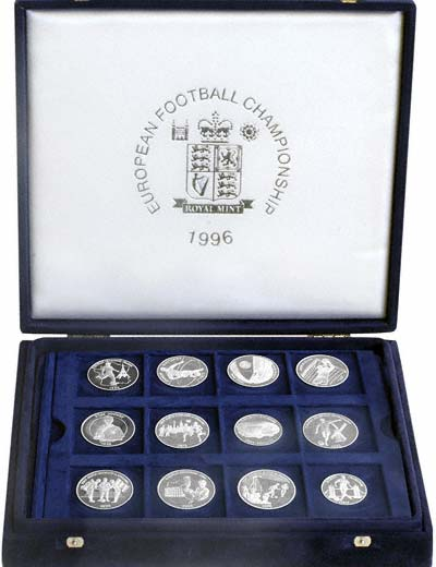 European Football Championship Silver Proof Medallions in Presentation Box