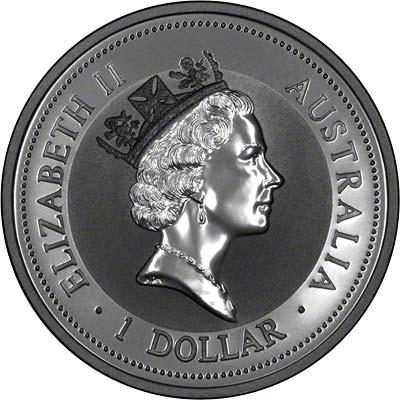 Obverse of 1997 Australian Silver Kookaburra