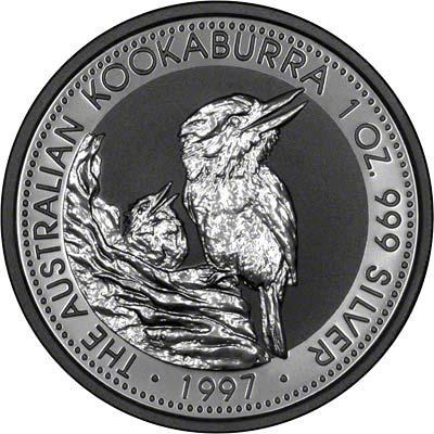 Reverse of 1997 Australian Silver Kookaburra