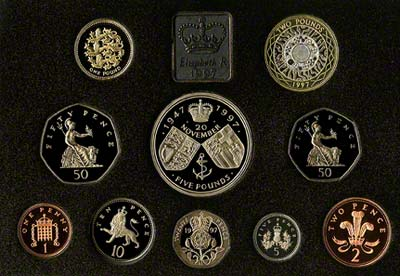 Reverse of the 1997 Proof Set
