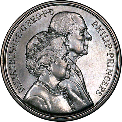 1997 Golden Wedding £5 Crown - Obverse