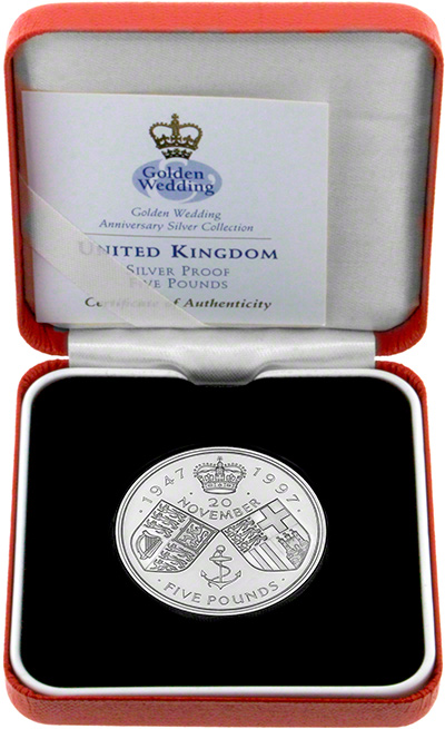 1997 Golden Wedding £5 Crown - Reverse