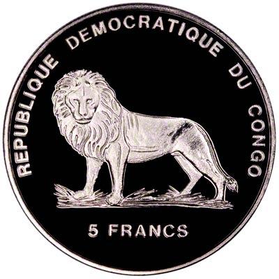 Obverse of 2000 Five Francs