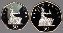 Reverse of Both Sizes of 1997 Fifty Pence