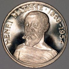 Henri Matisse on Obverse of 1997 20 Euro French Pattern Crown