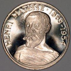 Henri Matisse on Obverse of 1997 20 Euro French Pattern Crown