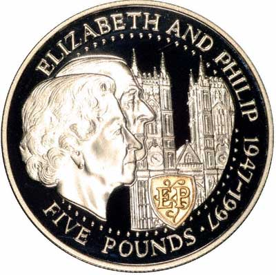 Reverse of Guernsey Silver Proof Pound of 1997
