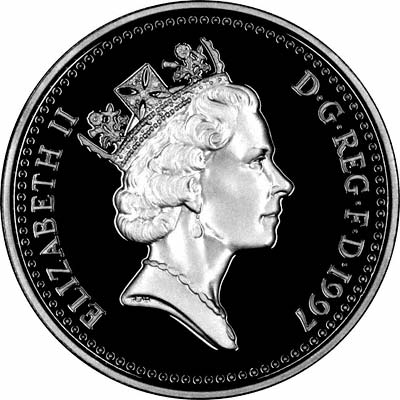 Obverse of the 1997 £1 Coin