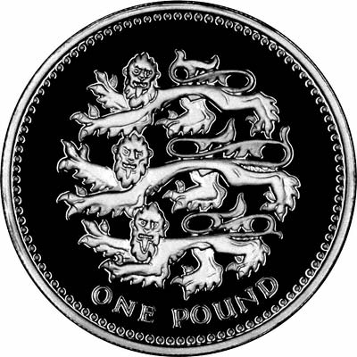 Reverse of the 1997 £1 Coin