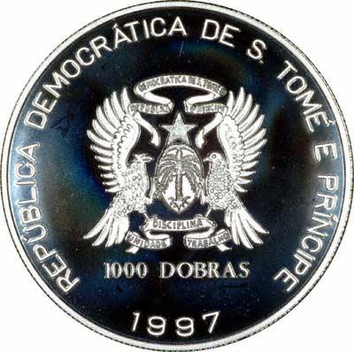 Obverse of 1997 1000 Dobra