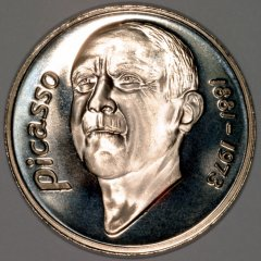 Picasso on Obverse of 1997 20 Euro Spanish Pattern Crown