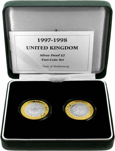1997 and 1998 Silver Proof Two Coin Set