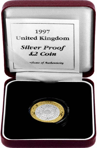 1997 Silver Proof Two Pound in Presentation Box