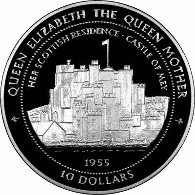 Reverse of 1994 Nauru Silver 10 Dollars