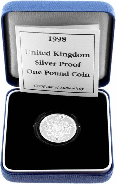 1998 Silver Proof One Pound in Presentation Box