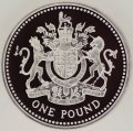 Royal Arms on Reverse of 1983 Pound Coin
