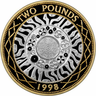 Reverse of 1998 £2 Coin
