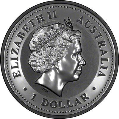 Obverse of 1999 Australian Silver Kookaburra