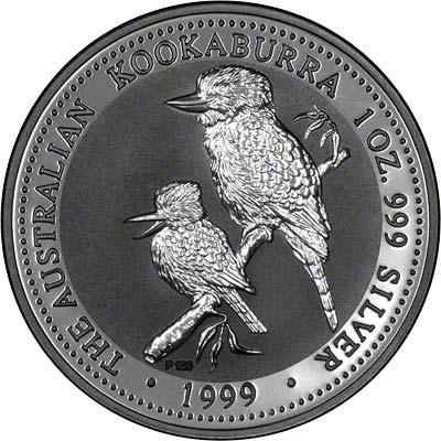 Reverse of 1999 Australian Silver Kookaburra