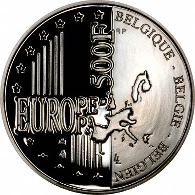 Reverse of 1999 Belgian 500 Francs