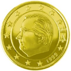 Obverse of Belgian 50 Euro Cent Coin