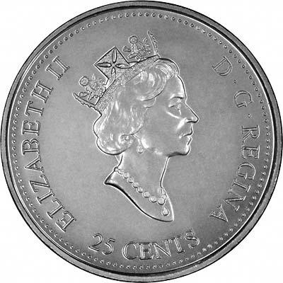 The Log Drive Millennium Quarter Coin UNC 1999 Canadian 25-Cent March