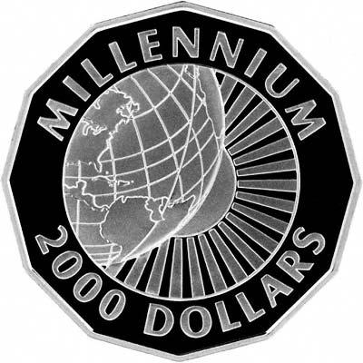 'Reverse of 1999 Guyana Silver 2000 Dollars