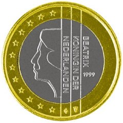 Obverse of Netherlands 1 Euro Coin
