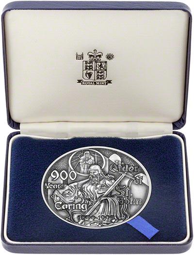 1999 Order of St John Silver Medallion in Presentation Box