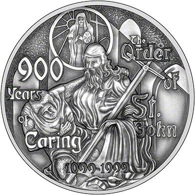 1999 Order of St John Silver Medallion Reverse