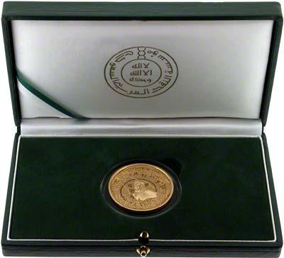 1999 Kingdom of Saudi Arabia 100 Years Gold Medallion in Presentation Box