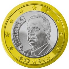Obverse of Spanish 1 Euro Coin