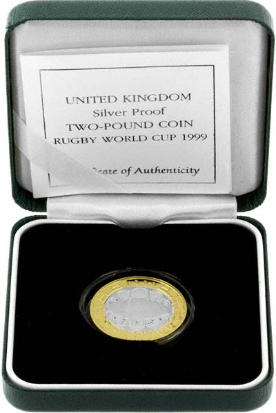 1999 Silver Proof Two Pound in Presentation Box