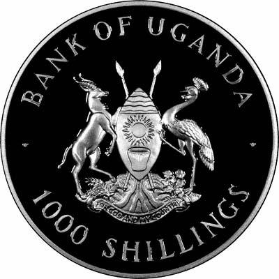 Obverse of 1999 Uganda 1000 Shillings