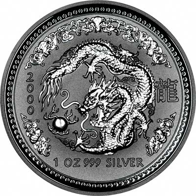 Year Of The Dragon Australian Silver Dollars 2000