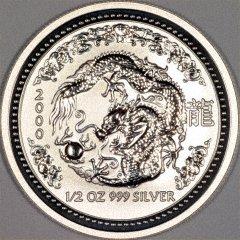 2000 Australian Half Ounce Silver Dragon