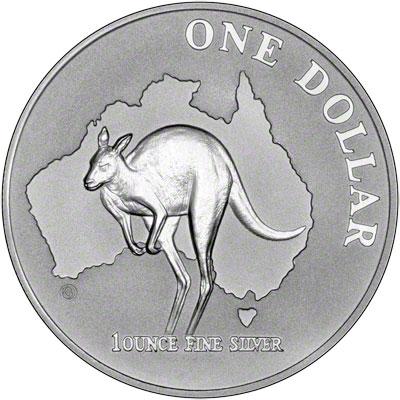 Reverse of 2000 Australian Silver Kangaroo