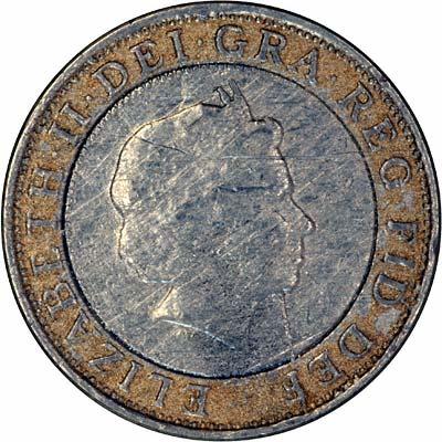 Fake two pound coin