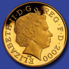Obverse of 2000 Millennium Crown - Gold Version