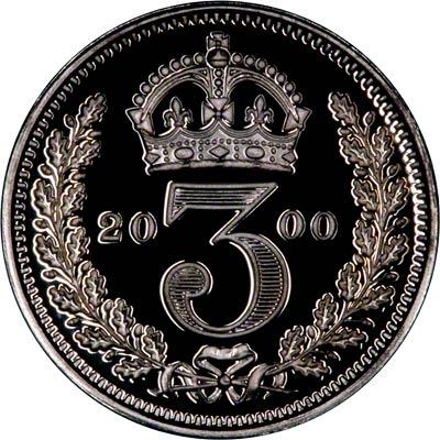 Reverse of 2000 Maundy Threepence