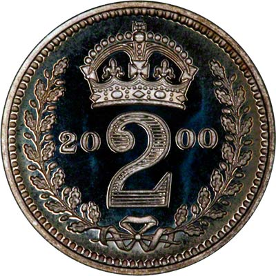 Reverse of 2000 Maundy Twopence