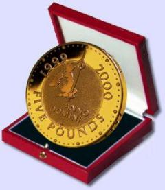 2000 Millennium Crown - Gold Version in Presentation Box