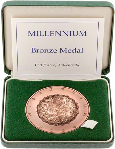 2000 Millennium Bronze Medallion in Presentation Box