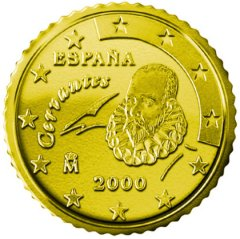 Obverse of Spanish 50 Euro Cent Coin
