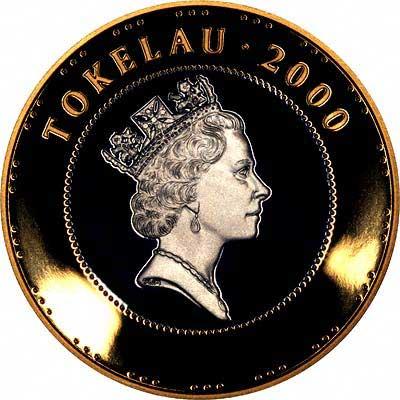Obverse of 2000 Tokelau Silver 5 Talas
