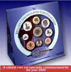 2000 Uncirculated 9 Coin Set in Folder