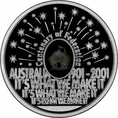Reverse of 2001 Australian Silver Proof Five Dollars